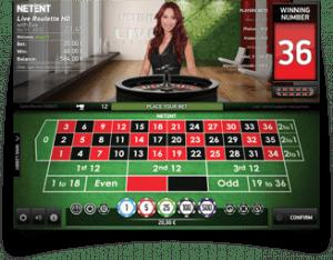 Live casino hos Betsson. Her med Nadia ved roulettebordet.