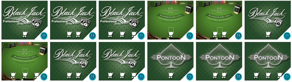 De fleste casinoer tilbyr en rekke blackjack-varianter