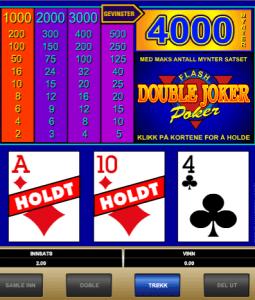 Double Joker Poker fra Microgaming