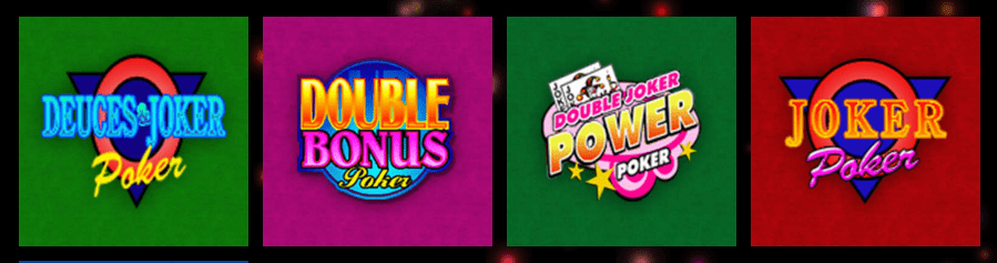 Video Poker-utvalg hos Rizk
