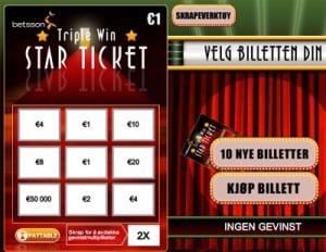 Starticket fra Net Ent finner du hos blant annet Casumo casino.
