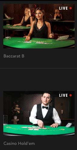 Live Casino-spill hos Codeta