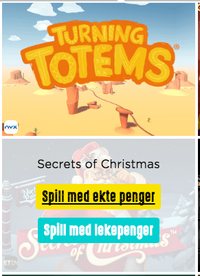 Prøv spill gratis hos Spinit
