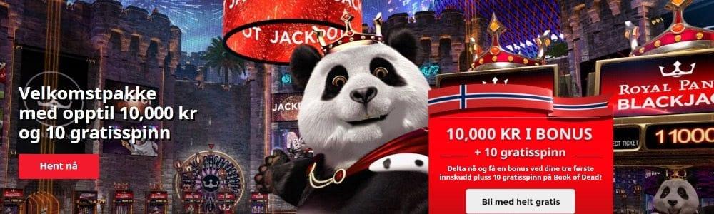 Royal panda velkomstbonus